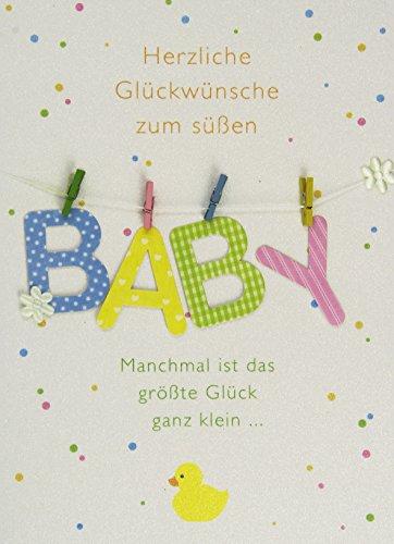 estyle Art Card A4, Geburt mit Briefumschlag, creme ()