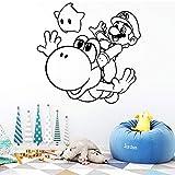 Super Mario Wall Stickers Gamer Wallpaper Vinile Camera rimovibile Decorazione per camera dei bambini Decorazione Decalcomania Adesivi creativi grigio M 30cm X 29cm
