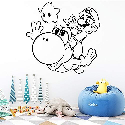 Super Mario Wandaufkleber Gamer Tapete Vinyl Abnehmbare Raumdekoration Für Kinderzimmer Dekoration Aufkleber Kreative Aufkleber weiß L 43 cm X 41 cm (Weiße Tapete Abnehmbare)