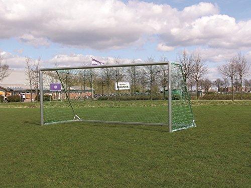 W&H Fußballtor - mobiles Jugendtor - 5,00 x 2,00 m - Vollaluminium, untere Tortiefe/Auslage:1.50m