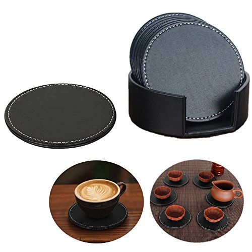 itian-set-of-6-pu-leather-coasters-cup-mats-with-holder-home-office-hotel-use-black