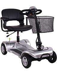 KMCQA Scooter de Movilidad Portátil de 4 Ruedas de Viaje de Coche Scooter Eléctrico Plegable con