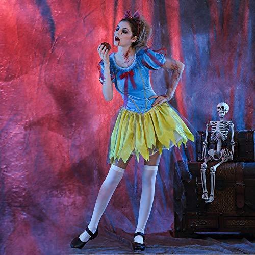 XUDSJ Halloween,Lack Kleid,hexenkostüm, Halloween Party Kostüme Frauen Horror Kleid Party Kostüm Scary Halloween Kostüme for Frauen (Color : Candy Colors, Size : (Gute Scary Kostüm)
