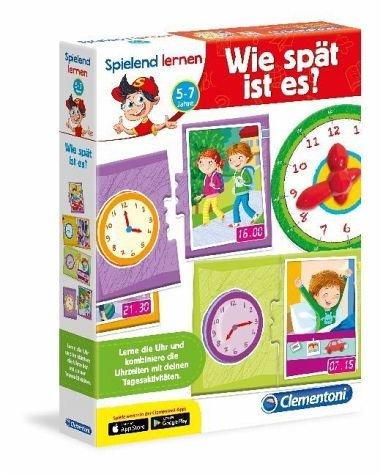 Clementoni 96097 - Spielend Lernen - Wie spät ist es?, Mehrfarbig