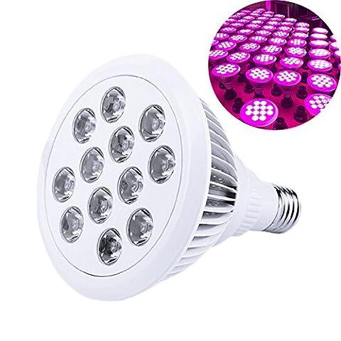AZX LED Plante végétation lampe horticole Etanche IP55 Haute Efficacité E27 12W Croissance ampoule en forme de Lotus Blanc