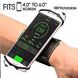 Zhao Xuan Trade Lauf-socken Sport-Unterarm-socken kompatibel mit iPhone X/8/7/6S/6 Plus, Galaxy S8/S8 Plus/S7 für Joggen, Walking, Fitnessstudio, Wandern, Radfahren, Schwarz