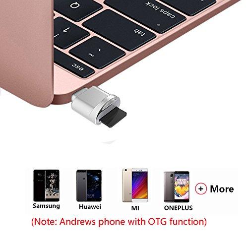 Galleria fotografica Lettore di schede portatile Zedela USB C per schede micro SD, adattatore USB da Micro SD a Tipo C OTG