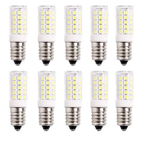 WULUN E14 SES LED Bulb 5 Watt,430lm,6000K Cool White,50 Watt Replacement,360°Beam Angle,220-240V AC,Non Dimmable - Pack of 10 [Energy Class A++]