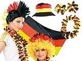PEARL Deutschland Fan Artikel: Fußball-Fan-Set Deutschland, 12-teilig (WM Fanartikel)