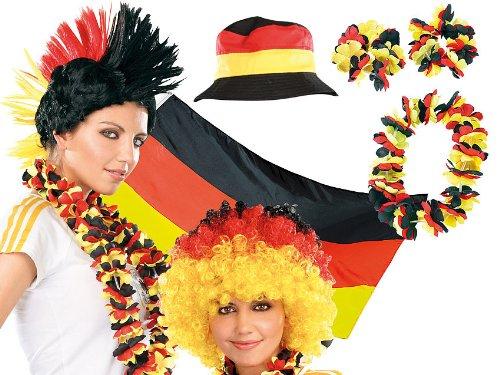 PEARL WM Fanartikel: Fußball-Fan-Set Deutschland, 12-teilig (Deutschland Fan Artikel)
