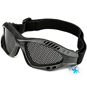 H&S® Tactical Military Metal Mesh Goggles Shooting Glasses Airsoft Mask