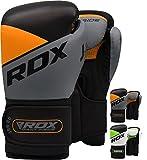 RDX Boxhandschuhe Kinder Muay Thai Boxsack Training Sparring Kickboxen Sandsack Junior Maya Hide Leder Boxing Gloves (MEHRWEG)