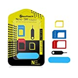 Neuftech 5 in 1 Sim Karten Adapter Set- Nano zu Micro - Micro zu Standard - Nano zu Standard- mit Nadel für iPhone Samsung HuaWei HTC usw.