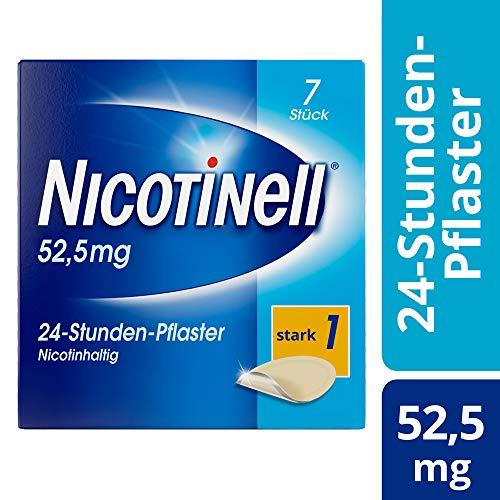 Nicotinell 52,5 mg / 24-Stunden-Nikotinpflaster, 7 St.: Pflasterstärke Stark (1) – Das Nicotinell Nikotinpflaster mit der Steady-Flow Technologie hilft, das Rauchverlangen für 24 Stunden zu lindern