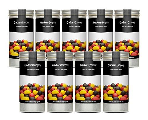 ko-Erdnüsse in Schwarz Rot Gold - perfekt für Deutschland-Partys oder zur Fußball-WM - Erdnuss in Vollmilchschokolade (Erdnüsse Fußball)