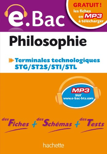 e.Bac - Philosophie Terminales STG-ST2S-STI-STL