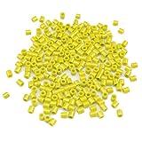 1000pcs Multicolor Plástico perlas mixtos para DIY pulseras, collares, llavero y niño joyas (Amarillo)