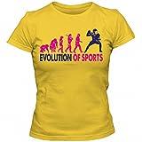 Sport Evolution #1 T-Shirt | Sportler | Fitness | Körper | Frauen | Shirt, Farbe:Gelb (Gold L191);Größe:M
