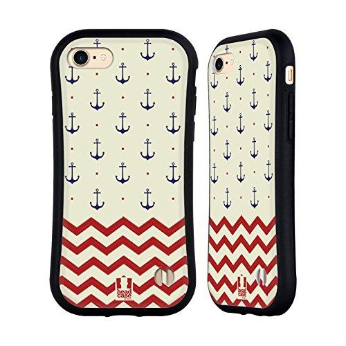 Head Case Designs Boot Marine Muster Hybrid Hülle für Apple iPhone 5 / 5s / SE Anker Und Chevron