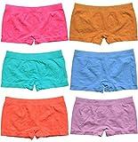 BestSale247 6 Stück Mädchen Pantys Hipster Shorts Boxershorts Girls Unterhosen Kids Unterwäsche Mikrofaser bunt 98 bis 164 (98-104)