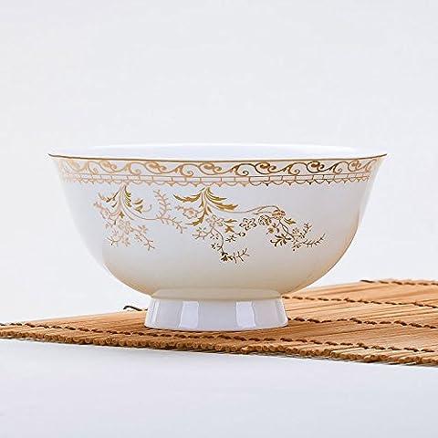 Yifom anti-ustioni creative alta terrina la tagliatella ciotola bone china ciotola di Phnom Penh,6 pollice - Bone Doppia Bowl