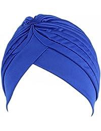 Fascigirl Mujer Turbante Trenzado Turbante Elástico Plisado Diadema Cabeza Cubierta