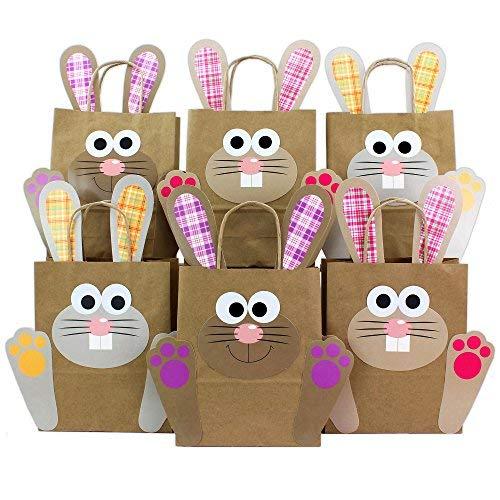 DIY Osterhasen Tüten mit Henkel - Geschenktüten zu Ostern zum selber Befüllen - zum Verpacken von Geschenken für Mädchen und Erwachsene