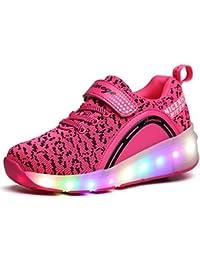 LILY999 LED Zapatos Niños Deporte Patín Ruedas Luminoso Formadores Flying Niños con 1 Ruedas Zapatillas