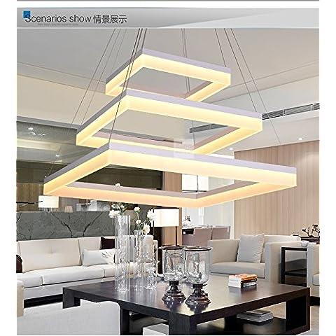 YM@YG Semplice LED Lampadario quadrato da salotto lampada moderna acrilico