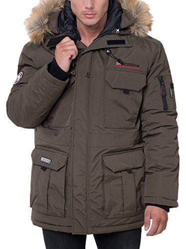 Geographical Norway Alpes, Chaqueta Bomber para Hombre, Verde Kaki Militaire, Medium