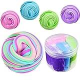 SWZY Fluffy Slime Kit, 4 en 1 Mezclado Mullido Floam Limo Juguete elástico y Suave para Arcilla, no tóxico para niños y Adultos