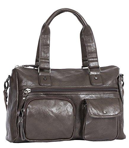Big Handbag Shop, Borsa a zainetto donna Messenger Style 1 -Coffee