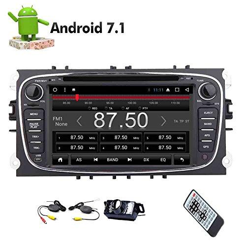 Eincar 8-Core Android 7.1 Stereo 32G ROM-Auto-DVD-Player in Dash Autoradio Bluetooth-GPS-Navigation-Steuergerät Auto-Stereo Canbus HD kapazitiven Touch Screen für Ford unterstützt Mirrorlink + Geschenk: - Android-geschenk-karte Store Play