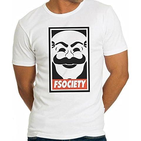 Mr. Robot F Society-Maglietta da