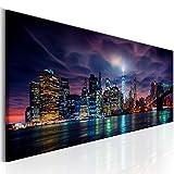 murando - Bilder 135x45 cm Vlies Leinwandbild 1 TLG Kunstdruck modern Wandbilder XXL Wanddekoration Design Wand Bild - New York Stadt City NY d-B-0155-b-a