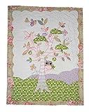 Unbekannt Patchworkdecke 80 cm * 105 cm - Eule Baum Baby Rosa Lila Decke Kuscheldecke Kinder Plaid Kinderdecke