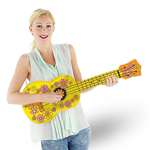 Gitarre Hippiegitarre Blumen Blümchen 76 cm (Aufblasbare Blumen)