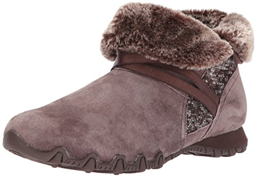 Skechers Damen Bikers-Flare Biker Boots, Braun (Chocolate), 40 EU (Stiefel Fashion Skechers)
