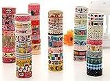 10 Kawaii 5M Tapes Mix Designs Cartoon Adhesive Tape Set for Scrapbooking/Craft