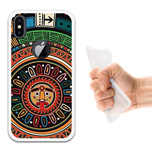 iPhone X Hülle, WoowCase Handyhülle Silikon für [ iPhone X ] Rosa zuckeriger Totenkopf Handytasche Handy Cover Case Schutzhülle Flexible TPU - Transparent Housse Gel iPhone X Transparent D0122