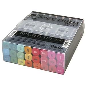 RAYHER - Spectrum Noir Stifte, Brights, Set 24 intensive Farbtöne, PVC-Box 1Set