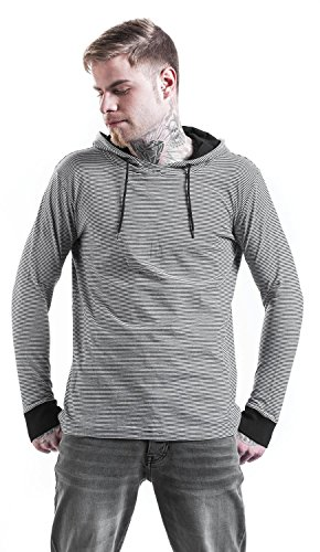 Urban Classics Stripe Jersey Hoody Sweats à capuch Black