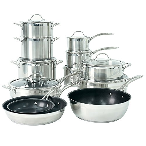 ProCook Professional Stainless Steel Induction Cookware Set 12 Piece