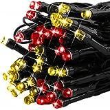 LEDMO Cadena Solar de luces LED, 100 Leds 12 metros, Luces solares de la secuencia de decoración, luminaria para navidad, fiestas, bodas, terraza, jardines, Patio, festivales.(Multicolor)