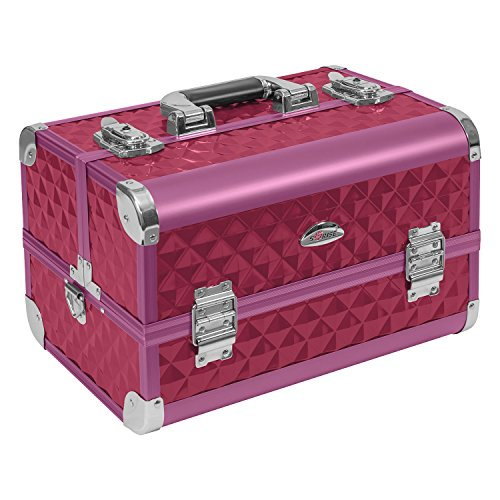 Preisvergleich Produktbild Beauty Case 21 Liter Kosmetik Spiegelkoffer Friseurkoffer Sunrise - Erikaviolett