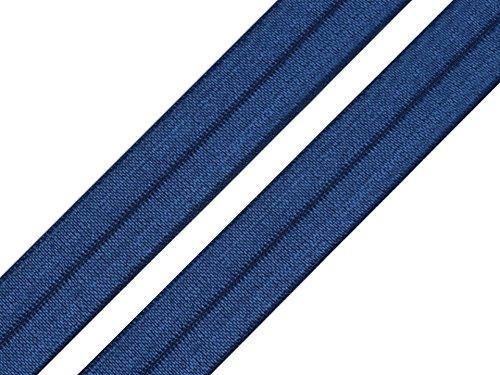 Schnoschi 2 Meter Elastisches Einfassband 20 mm dunkelblau