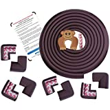 Baby Proofing Edge & Corner Guards | Extra Long 16.4Ft Edge + 8 Pre-Taped Corner Protectors | Child Safety Furniture Cushions | Coffee Brown