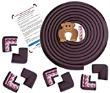 #9: Baby Proofing Edge & Corner Guards | Extra Long 16.4Ft Edge + 8 Pre-Taped Corner Protectors | Child Safety Furniture Cushions | Coffee Brown