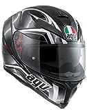 Casco moto AGV K5 uragano nero pieno di Gunn moto