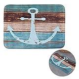 Uarter Vintage Nautical Anchor Badezimmer Teppich Retro rutschfeste Küche Matte Weich saugfähig Boden Bad Teppich mit rutschfesten SBR Unterstützung